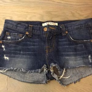 JBrand denim shorts. Perf condition